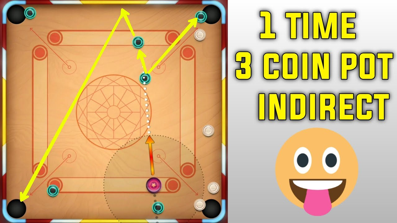 1 Time 3 Coin Pot Indirect / Carrom Pool Trick short / Gaming Nazim .❤️😁
