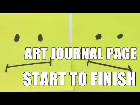How to: Art Journal Page - 10 Min Project