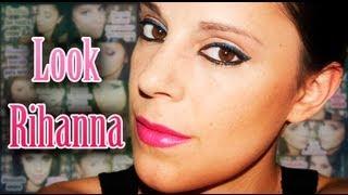 Rihanna makeup pink lips | Silvia Quiros