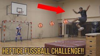 Heftige hallen fussball challenge vs hey aaron +bestrafung!!