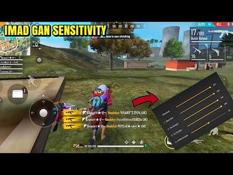 IMAD GAN SENSITIVITY! Best Drag headshot Sensitivity 😱! Effective on iPhone devices🔥