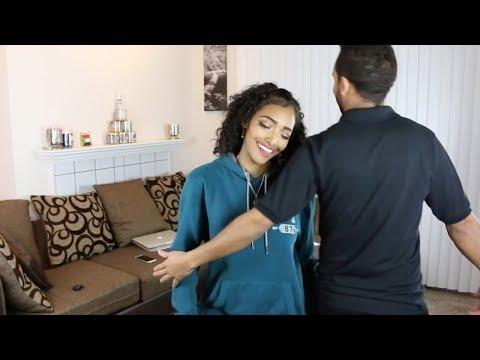 Sudanese Girl Dances to Ethiopian Music
