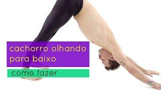 COMO FAZER POSTURA CACHORRO OLHANDO PARA BAIXO / YOGA