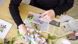 Blumen pressen und trocknen in der Mikrowelle