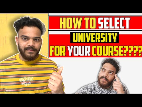 How To Select University Is Your Course In Available In Different Universities/ Choose Universities