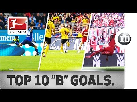 """Top 10 Goals - Players With """"B"""" - Boateng, Bentaleb & More"""