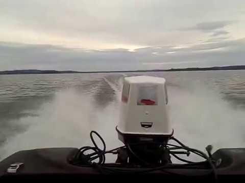Johnson 70hp engine 1974 OMC checkmate speedboat