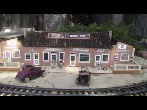 Modelling Railway Toy Train Track Plans -Amazing G-Scale Homade Structures and People