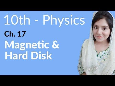 10th Class Physics, Ch 17, Magnetic & Hard Disk - Class 10th Physics