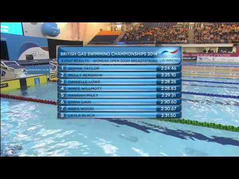 British Gas Swimming Championships 2014 - Finals Day Three