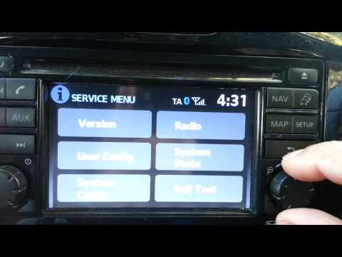 SERVICE MENU NISSAN CONNECT