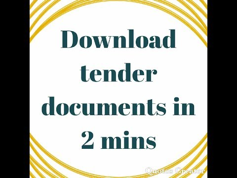 How to download any tender documents in 2mins
