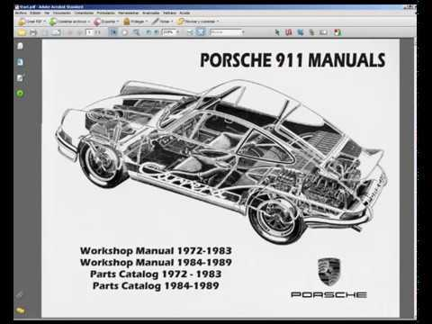 porsche 911 - service manual - wiring diagram - spare parts catalogue