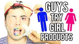 Guy Tries WEIRD Girl Products ft. MY BOYFRIEND! NataliesOutlet