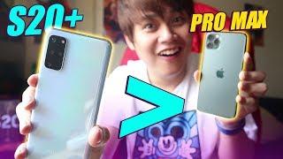 """GALAXY S20+ """"ĂN ĐỨT"""" iPHONE 11 PRO MAX Ở 5 ĐIỂM NÀY..."""