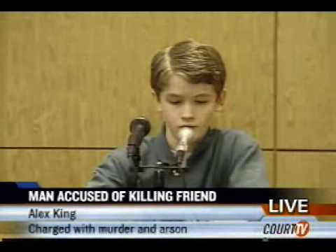 Alex King testifies (live on Court-TV)