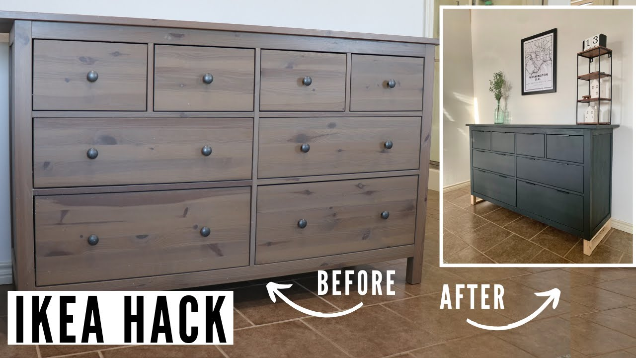 Extreme Ikea Hack Dresser Makeover How To Update Furniture With Chalk Paint And New Hardware Youtube,What Colours Go With Olive Green Walls