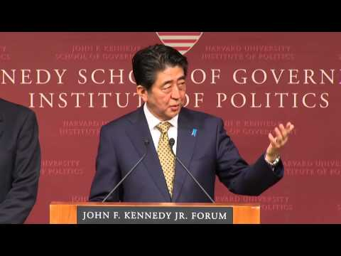A public address by Shinzo Abe, Prime Minister of Japan   Institute of Politics