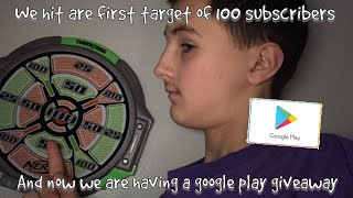 100 subscriber google play giveaway