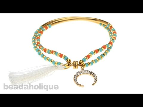 How to Make the Crystal Charm Bracelet with Tassel Kit