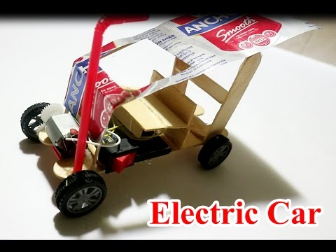how to make powered car with dc motor very simple electric car diy for kids youtube. Black Bedroom Furniture Sets. Home Design Ideas