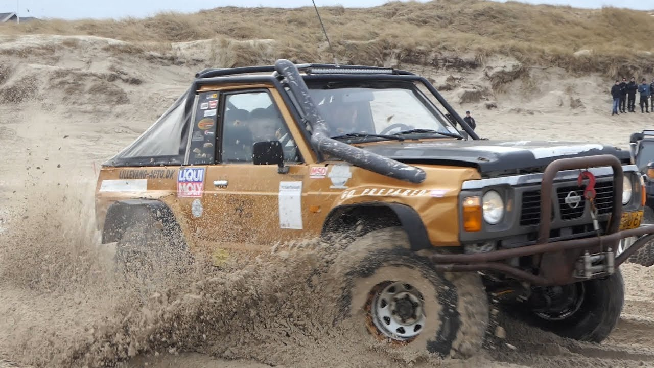 Nissan Patrol Going Crazy in The Sand | w/ LS Swap Chevrolet LS6 V8 Engine  | Løkken Beach Tour 2019