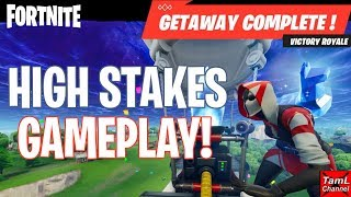 Fortnite: HIGH STAKES GAMEPLAY! Getaway LTM Squad Victory Update 5.4!