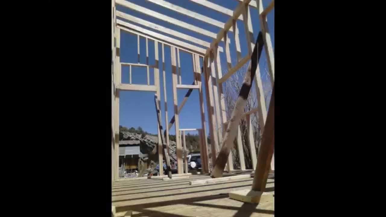 8 x 16 off grid cabin foundation and framing build youtube for Off grid cabin foundation