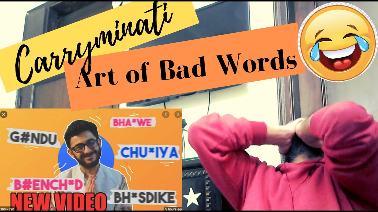 CARRYMINATI - ART OF BAD WORDS REACTION | #KatReactTrain Reacts | #Carryminati #ArtOfBadWords