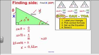 Trigonometry SOHCAHTOA GCSE Higher Maths