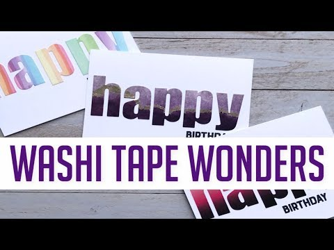 Washi Tape Wonders + Giveaway + World Cardmaking Day