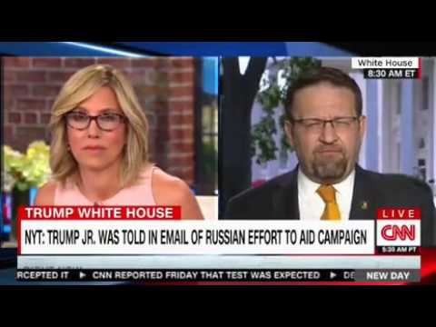 Sebastian Gorka insults CNN attacks Alisyn Camerota payback for the Kellyanne interview yesterday