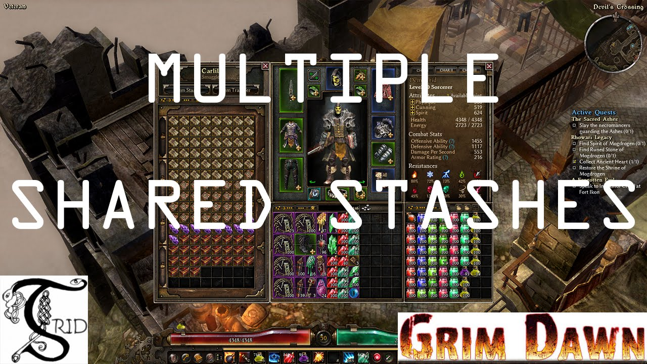 Grim Dawn - Multiple Shared Stashes: Fixing Space Issue
