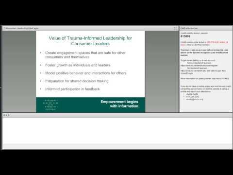 Spring Virtual Training 2017: Fostering Trauma-Informed Leadership Skills for Consumers