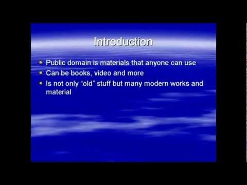 Public Domain Introduction (Public Domain Information Tutorial)