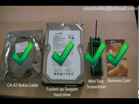 How to fix a Seagate 7200.11 with a Nokia-CA42 Cable (HDD No longer appears in BIOS)