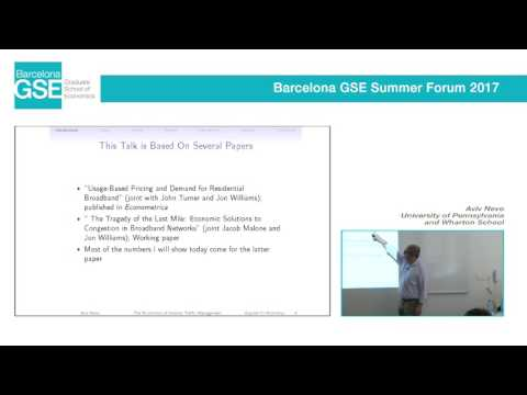 Aviv Nevo (University of Pennsylvania and Wharton School) - Barcelona GSE Summer Forum 2017