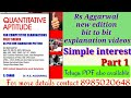 Simple  interest part 1/Rs Aggarwal new edition classes/Ganesh sir/Ganesh study center/