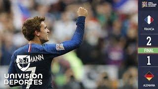 Francia 2-1 Alemania - GOLES Y RESUMEN - Liga A - Grupo 1 - UEFA Nations League