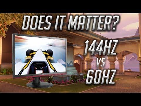 Overwatch   Is it worth it? 144hz vs 60hz monitors   My Experience