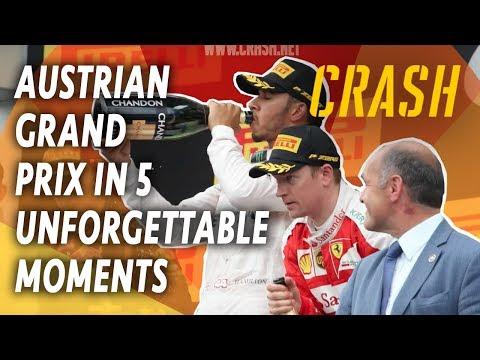 F1 Austrian Grand Prix in 5 Unforgettable Moments | Austrian GP Classic Highlights