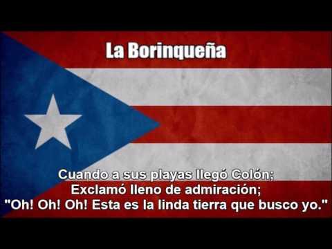 National Anthem of Puerto Rico (La Borinqueña) - Nightcore Style With Lyrics