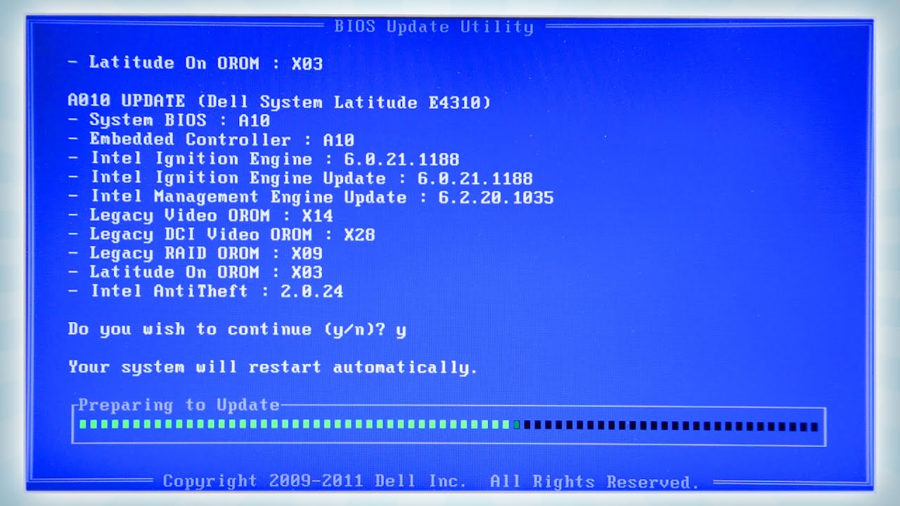 Updating the bios in linux