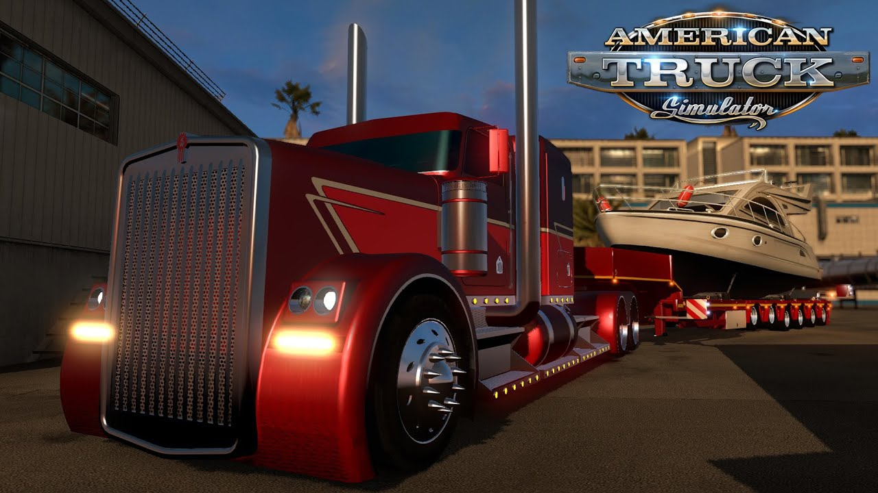 American Truck Simulator Hot Rod Kenworth Pulling A