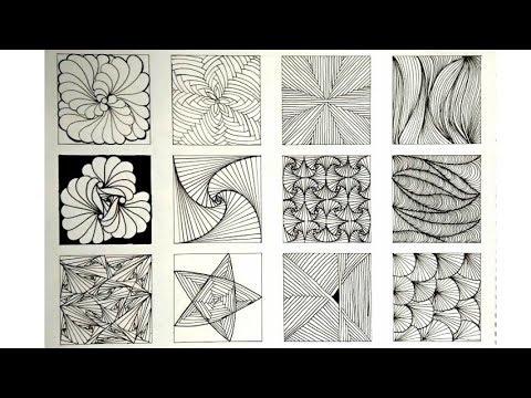 12 Zentangle patterns