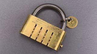 [1107] 100-Year Old Combination Lock That Can Be Opened IN THE DARK! (W.A. Harrison Insurance Lock)