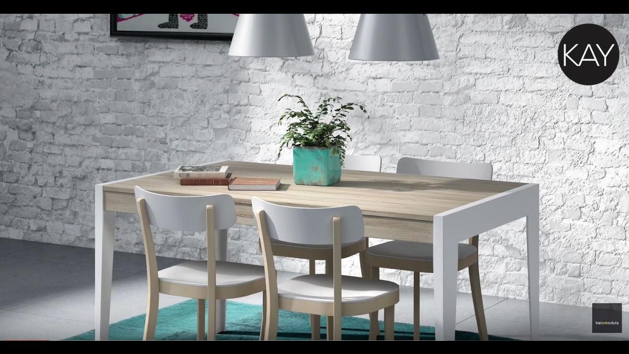 Mesas para salón comedor y Mesas de centro KAY - YouTube