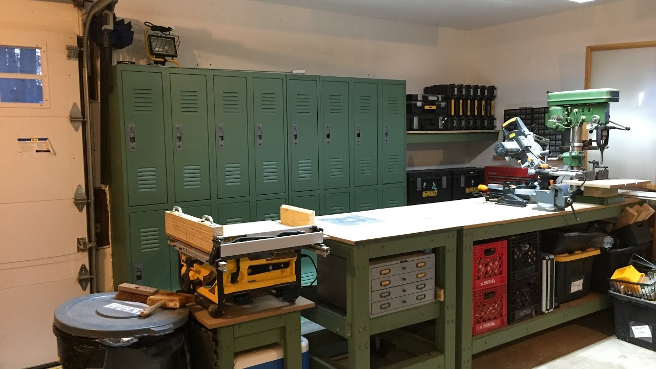 Reclaimed Lockers For Garage Storage Youtube