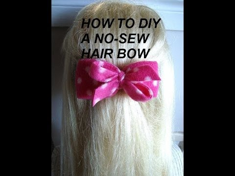 make -sew hair bow