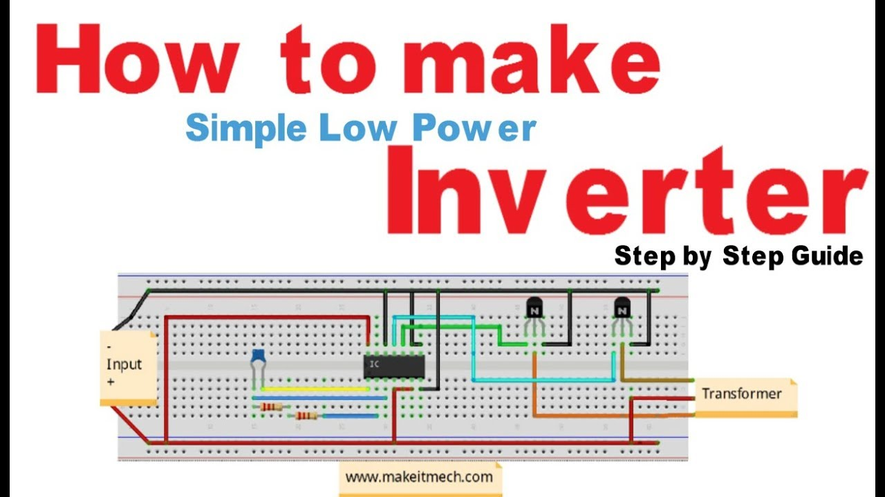 how to make simple inverter 100 working circuit [ 1280 x 720 Pixel ]
